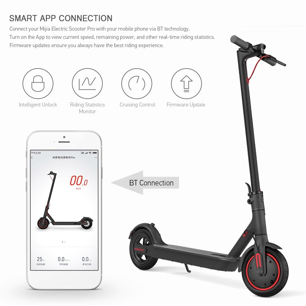 Xiaomi Mijia Electric Scooter Pro 8.5 Inch Two Wheel Quick Folding Scooter 3