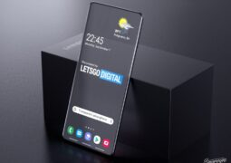 Samsung Galaxy  transparent screen phone